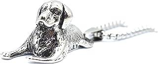 قلادة للكلاب للرجال، قلادة كلاسيكية على شكل كلب جرو مع سلسلة 65 سم، قلادة تميمة على شكل كلب لطيف، قلادة هيب هوب، مجوهرات ع...