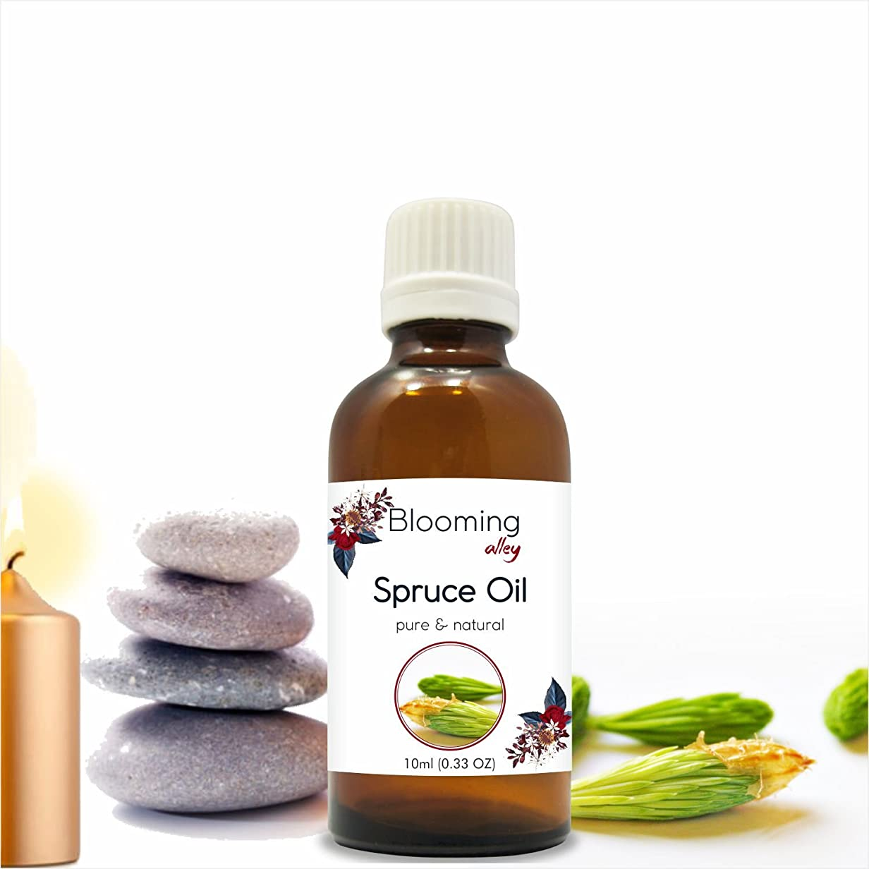 アラビア語シーサイド活気づけるSpruce Oil(Tsuga Canadensis) Essential Oil 10 ml or 0.33 Fl Oz by Blooming Alley