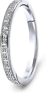 Miore anillo de eternidad para mujer en oro amarillo/blanco de 9 kt 375 con diamantes de 0,05 quilates