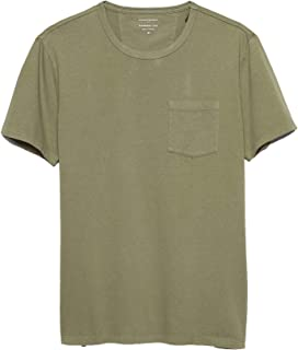 Banana Republic Mens Garment Dye T Shirt, Green