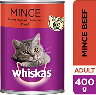 Whiskas Mince Beef, Can, 400g
