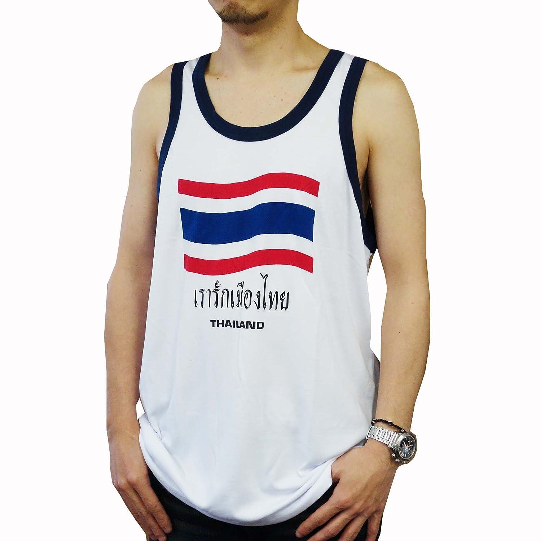 タンクトップ Thailand/タイ国旗 Aタイプ ホワイト