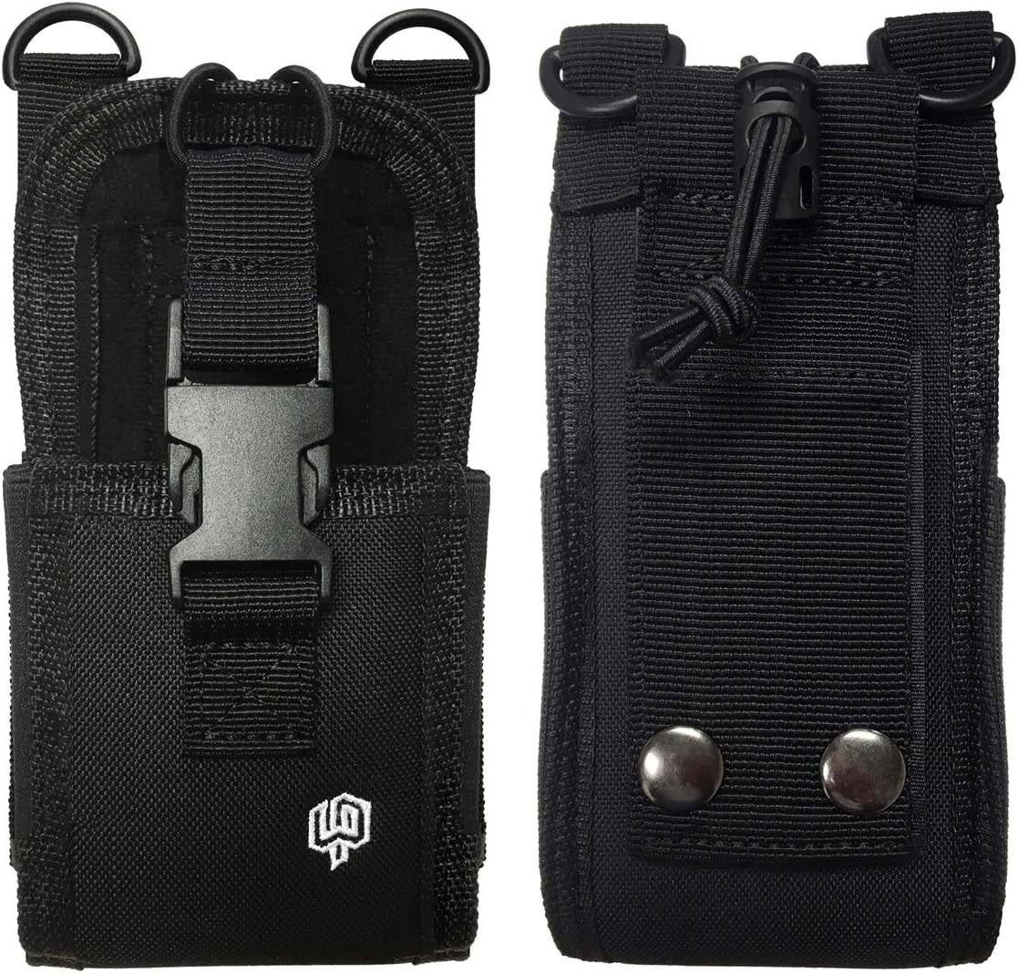 Heavy Duty Nylon Pouch with Secure Belt Loop and Adjustable Strap compatible with Kyocera -DuraForce Ultra 5G, DuraForce Pro 2, DuraForce Pro / Samsung / Sonim / CAT - S48C, S60, S61, S62, S42