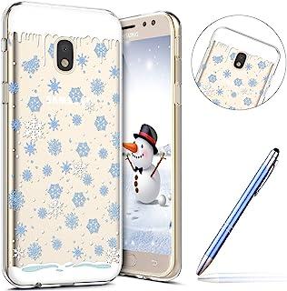 Robinsoni Cover Compatibile con Samsung Galaxy J530 Cover Silicone Natale Chiaro Nuovo Anno Cover Babbo Natale Flessibile ...
