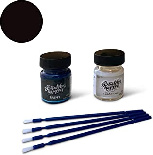 ScratchesHappen Exact-Match Touch Up Paint Kit Compatible with Nissan Black Amethyst/Dark Purple (LAE) - Essential