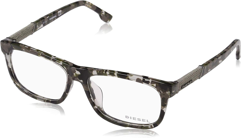 Diesel Rx Eyeglasses Frames DL5107F 055 5716150 Grey Havana Asian Fit