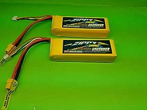 ZIPPY Compact New 2 Pack 2200mAh 3S 11.1V 25C 35C Lipo Battery RC XT60 TURNIGY GENS ACE