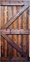 WELLHOME 42inx 84in K Series Dark Walunt Solid Interior Barn Knotty Wood Painted Door