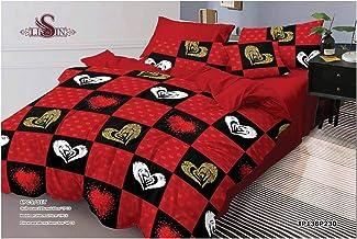 Floral 6Pcs Comforter Set By Million, King Size, Cotton, Medium Filling, P-79, Multicolor