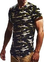 LEIF NELSON mens t-shirt crewneck oversize mens short sleeve Cotton t-shirt calssic oversize shirt long sleeve LN6324