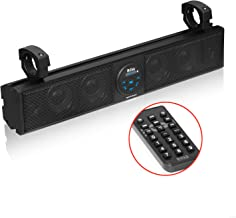 "Boss Audio BRT26A ATV UTV Sound Bar System – 26"" Wide, Weatherproof IPX5 Rated, Bluetooth Audio Streaming, Built-in Amplifier, Four 4"" Speakers, Two 1"" Tweeters,"