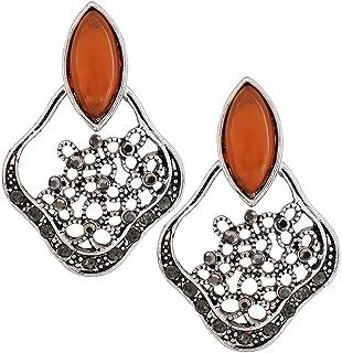 7cf246b0139 Maayra Party Earrings Alloy Dangler Drop Orange Designer Oxidised Jewellery
