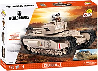 COBI COB03031 World Churchill 1 Tank (530 Pcs) Toy, Various