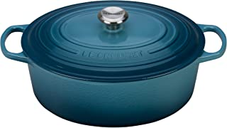 Le Creuset of America Enameled Cast Iron Signature Oval Dutch Oven, 8 quart, Marine - coolthings.us