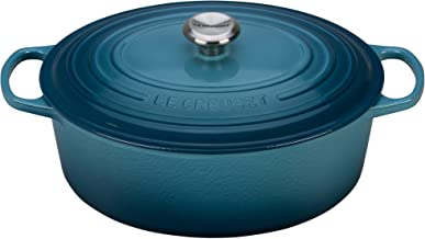 Le Creuset of America Enameled Cast Iron Signature Oval Dutch Oven, 8 quart, Marine