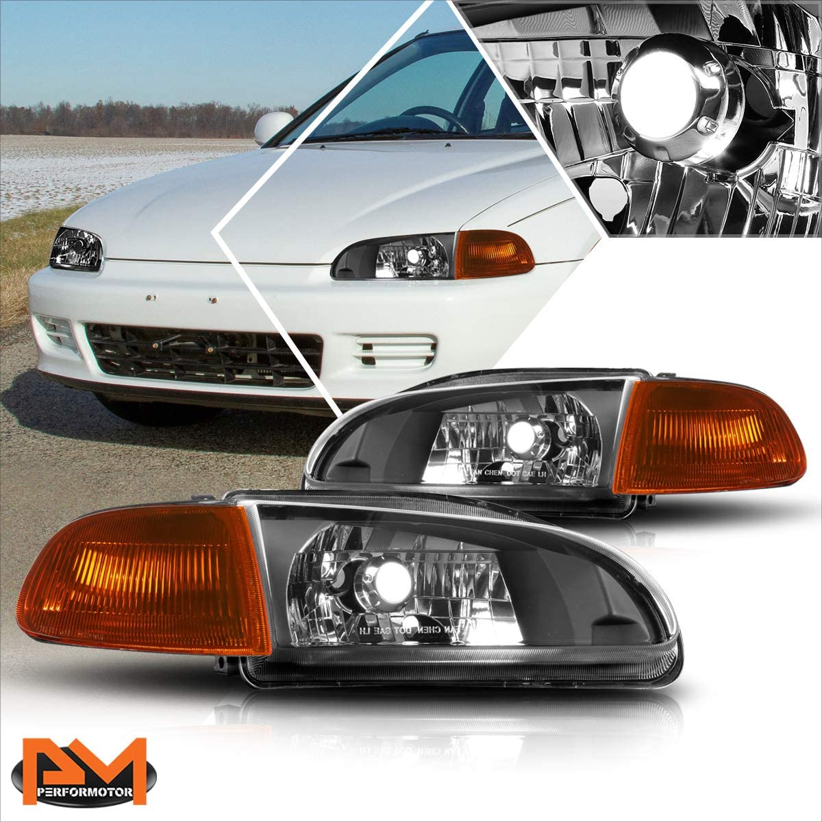 2Pcs Genuine OE Mail order cheap Factory Style Headlights Assembly w Compatible Headlamps