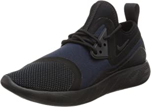 Nike Mens Lunarcharge Essential Low Top Lace, Black/Dark Obsidian-Volt, Size 7.5