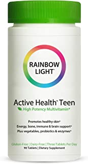 Rainbow Light – Active Health Teen Multivitamin With Dermacomplex- 90 Tablets