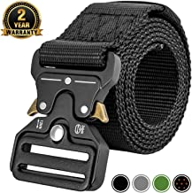 MOZETO Tactical Belt,Military Style 1.5 Inches Durable Nylon Web Belt, Quick-Release Heavy-Duty Metal Buckle Rigger Cobra Belt, Suitable for Waist 30