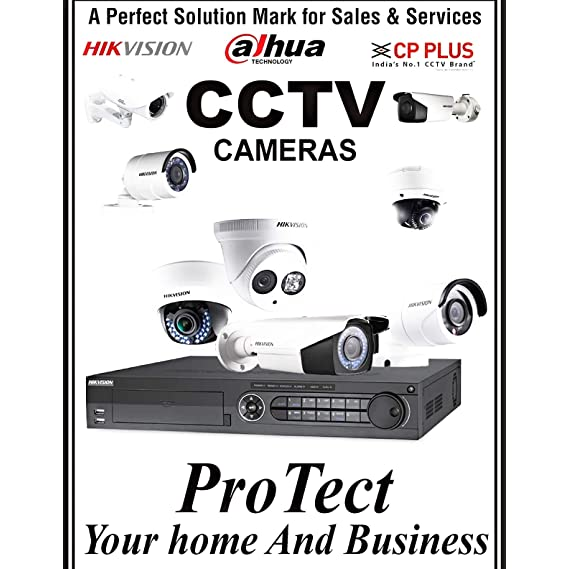 HIKVISION Wired 4 Bullet Outdoor Cameras & 4 Channel DVR HDMI/VGA & Seagate 1 TB Hard-Disk, White