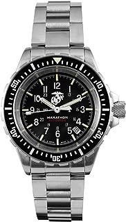 Marathon Watch WW194006BRACE-USMC GSAR Swiss Made Military Issue Diver's Automatic Watch with Tritium (41 mm, Stainless Steel Bracelet, USMC Markings)