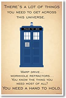 Doctor Who - Tardis - ...You Need A Hand To Hold - New Quote Poster