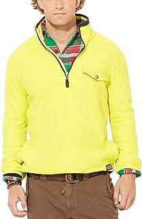 Polo Ralph Lauren Men's Long Sleeve Fleece Shirt (L, Neon Lime)