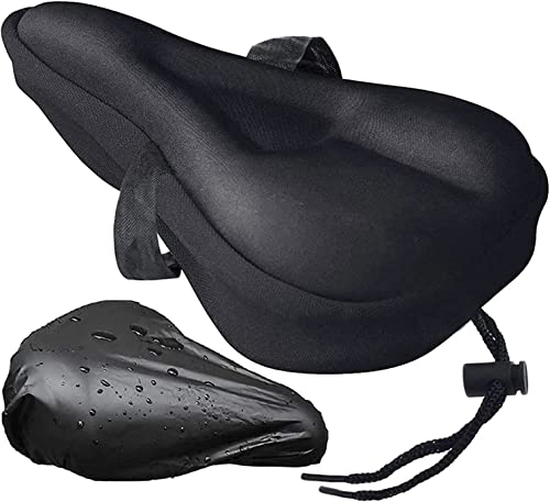 new arrival RiamxwR Gel Sponge Bike Seat online Cover Narrow lowest Exercise Bicycle Seat Cushion Cover Cycling Saddle Pad with Waterproof Rain Cover Bike Saddle Cushion Cover Pad for Spin Class or Outdoor Biking sale