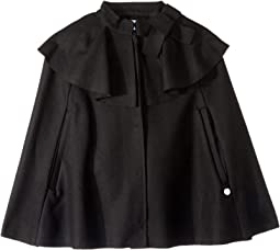 Wool Cape with Bow Detail (Little Kids/Big Kids)