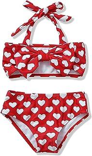 NZRVAWS Toddler Girl Swimsuit Summer Cute Bikini Set Kid Tankini Baby Swimwear Gift Two Piece Clothes for Girls