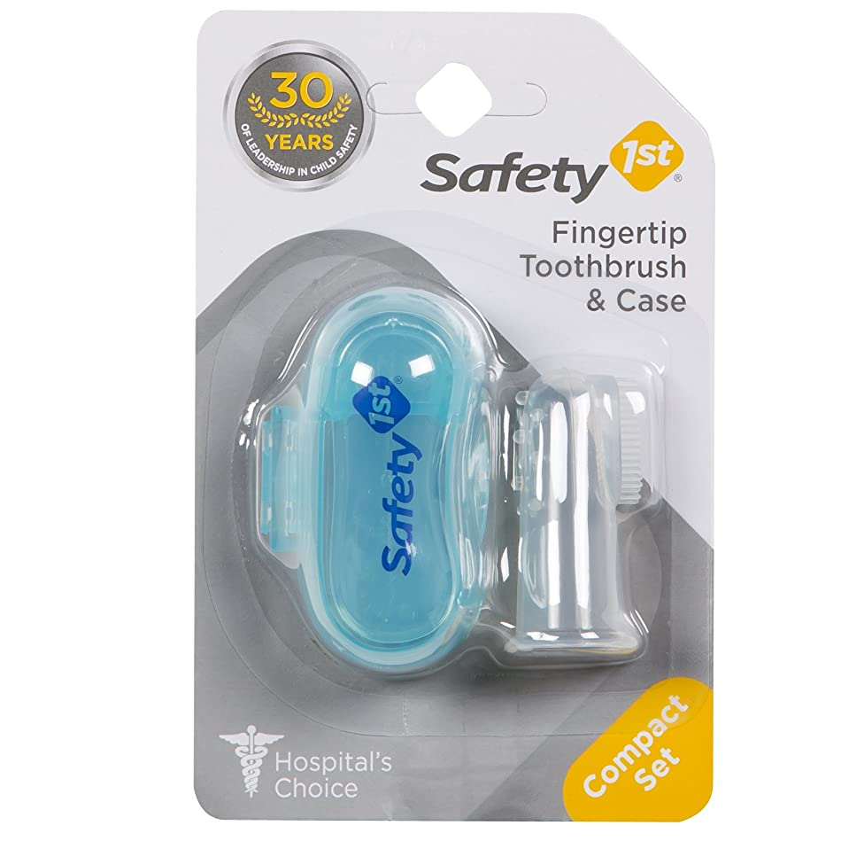 プロトタイプ恐ろしい移植Safety 1st Fingertip Toothbrush and Case by Safety 1st