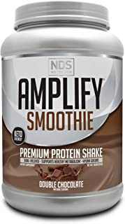 NDS Nutrition Amplify Smoothie Premium Whey Protein Powder Shake with Added Greens and Amino Acids - Build Lean Muscle, Ga...