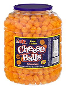 Utz Cheese Balls, Baked with Real Cheddar Cheese, Gluten Free 23 Ounce (Pack of 4)