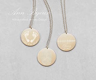 Actual Fingerprint Necklace Personalized Handprint Necklace Baby Footprints Necklaces Meaningful Gifts