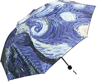 van gogh woman with umbrella