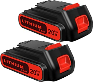 Batería de repuesto de 20 V 3.0 Ah para Black & Decker de 20 voltios de litio inalámbrico taladro taladro herramientas LBXR20 LST220 LB20 LBX20 LBXR2020-OPE de litio