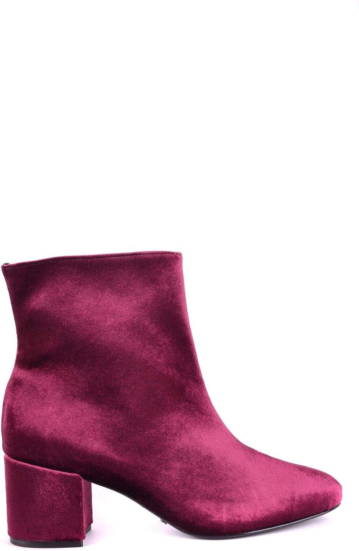 Schutz Women's MCBI32892 Burgundy Fabric Ankle Boots