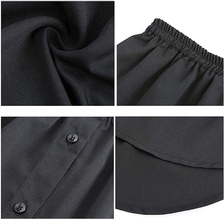 Yanoysg Verstellbare Schichtung Vielseitige Damen Damen Fake False Shirt Schwanz Bluse Saum,Baumwolle Abnehmbarer Unterrock Rock,Sweatshirt Extender Minirock,Dekorative R/öcke F/ür Pullover