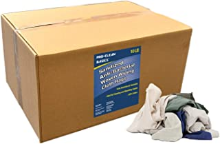 Pro-Clean Basics 99832 Sanitized Antibacterial Woven Wiping Cotton Cloth Rag, 10 lb Box, Colored