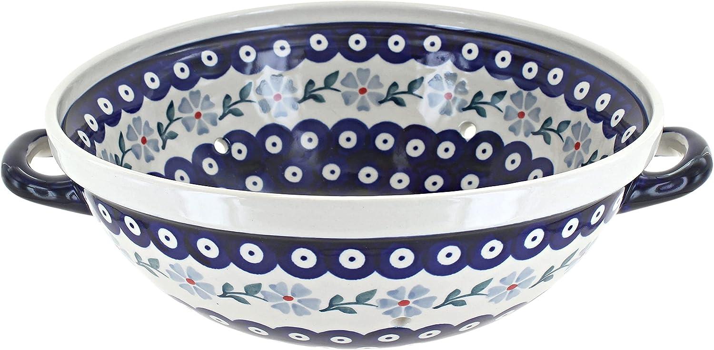 Blue Rose OFFicial shop Polish Violet Alternative dealer Pottery Colander