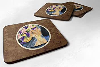 Carolines Treasures LH9136FC Silky Terrier Valentines Love and Hearts Foam Coasters Multicolor 3.5 H x 3.5 W Set of 4