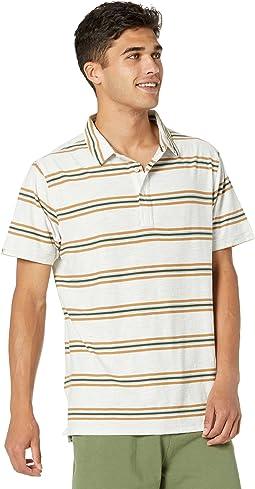 100% Yarn-Dyed Cotton Stripe Polo