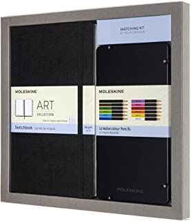 Moleskine Sketchbook & Watercolor Pencil Set Hard Cover (5 x 8.25) Sketch Pad for Drawing, Watercolor Painting, Sketchbook for Teens, Artists, Students