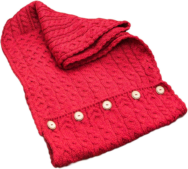 Carraig Donn 100% Irish Merino Wool Snood with buttons