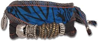 Anisch de la Cara Hombre Pulsera Indigo Massai - Pulsera de