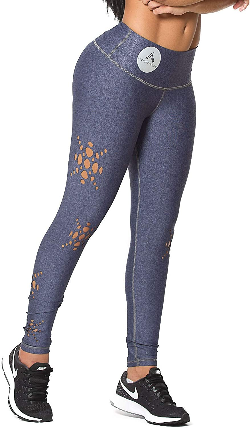 Active Colombian Women High Waisted High Compression Workout Shaping Leggings (Starcut)