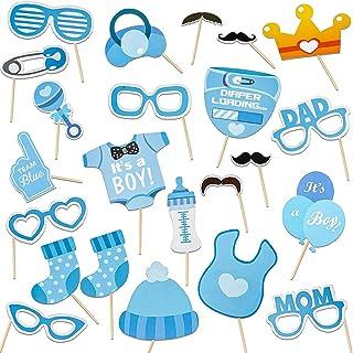 Accessoires de photomaton décoration de Douche de bébé, Accessoires de Photo de Jeux de Baby Shower garçon/Fille, photoboo...