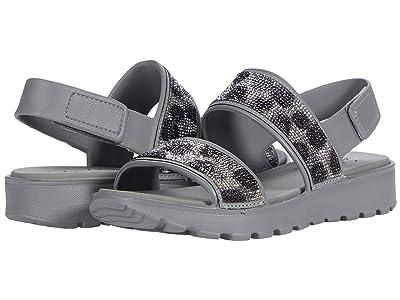 SKECHERS Cali Gear Footsteps Leopard Rhinestone Sandals