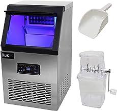 Machine à Glaçons Professionnelle en Inox pour Restaurants Bars et Salon de Thé Broyeur à glace pilée GRATUIT 40kg de Glaç...