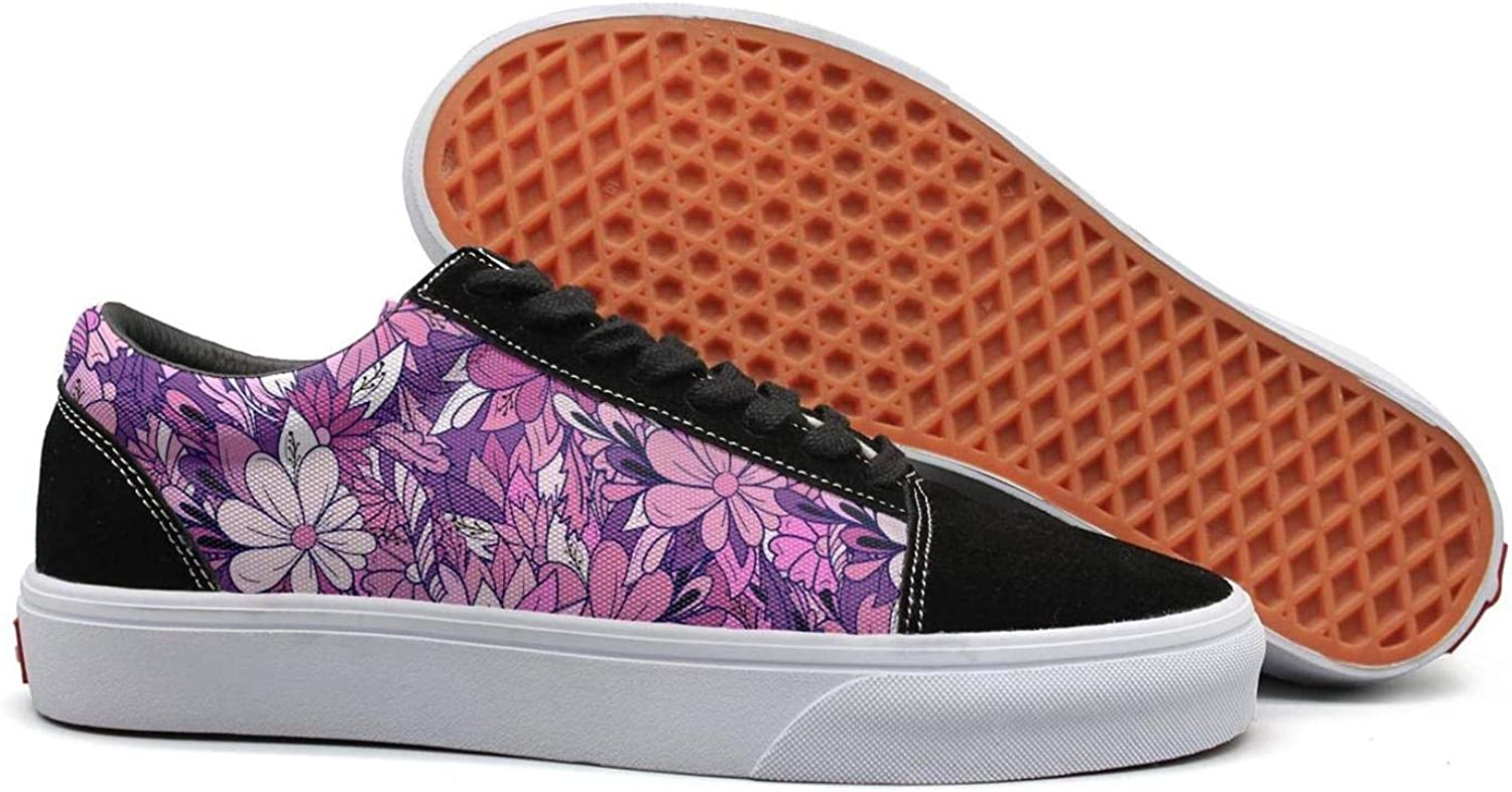 Floral Pattern with Daisies Womens Ladies Flat shoes for Womens Budge Leather Skidproof shoes